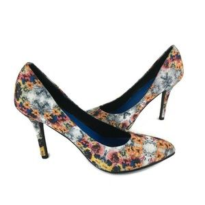 Nicole Miller Tropical Floral High Heels
